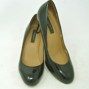 Ann Tylor Women's Black Patent Leather Heel Pumps